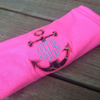 Monogrammed anchor t shirts and tanks with added initials :)