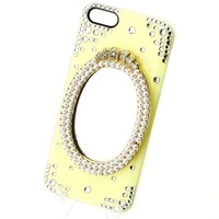 3D Magic Pearl Mirror Crystal diamond Case Cover for iPhone 4 4S