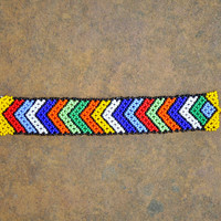 African beaded bracelet (beaded, arrow pattern design bracelet)