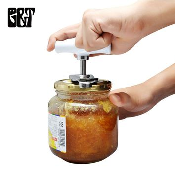 Stainless Steel Can Opener Adjustable Jar Openers Manual Spiral Seal Lid Remover Twist Off Screw Bottle Opener Kitchen Gadgets