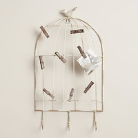 Brynn Birdcage Hook Wall Decor