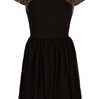 Petite Embellished Skater Dress - Topshop USA