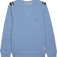 TOMMY HILFIGER - Cotton flag shoulder jumper 4-16 years | Selfridges.com
