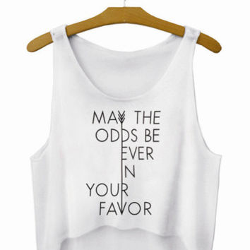 Cute Letters Crop Top Summer Style Tank Top Women's