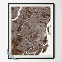 Montreal Print, Canada Poster, Montreal Poster, Montreal Map, Canada Print, Quebec Print, Street Map, Canada Map, Wall Art