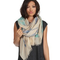 Taupe Stars And Stripes Heritage Scarf