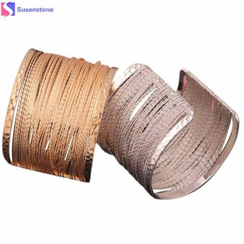 Popular hollow pattern metal bracelet, silver, gold Fashion Europe pierced graphic Metal Bracelet #4-5