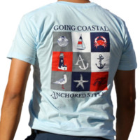 Going Coastal Tee Shirt by Anchored Style - Light Blue
