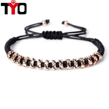 2017 New Fashion DIY Beads Charm Bracelets Trendy Micro Pave CZ Beads Strand Macrame Brand Men Women Bracelet Jewelry.