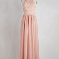 Pastel Long Sleeveless A-line Outfit of the Sway Dress