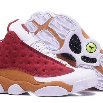 DCCKL8A Jacklish Air Jordan 13 Monta Ellis Premio Bin 23 Team Red/desert Clay-white