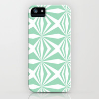 Mint Starburst #3 iPhone & iPod Case by Project M