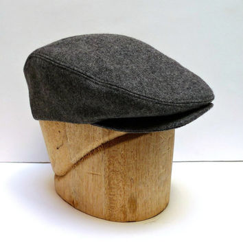 Men's Driving Cap in Gray Wool - Made to Order in Your Size