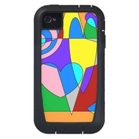 Retro Colorful Abstract iPhone4 Case
