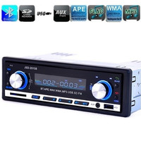 12V Car FM Radio Stereo Bluetooth MP3 Audio Player Support 5V Charger USB/SD/AUX/APE/FLAC Auto Radio In-Dash 1 DIN For Car ZQC52 (Color: Black)