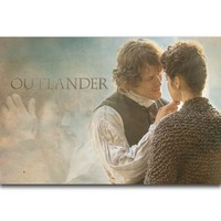 S2369 Jamie and Claire Outlander Season 3 2017 TV Series Show Wall Art Painting Print On Silk Canvas Poster Home Decoration