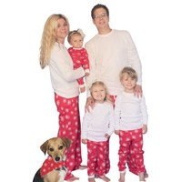 Red Snowflakes Family Matching Flannel Loungesets by SleepytimePjs