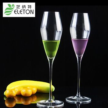 ELETON lead-free crystal glass Flute sparkling glass