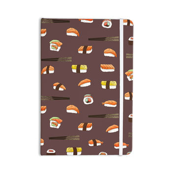 "Strawberringo ""Sushi Pattern"" Orange Brown Everything Notebook"