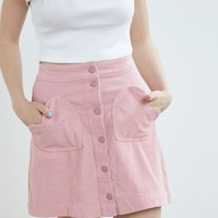 Lazy Oaf Heart Cord Skirt