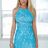 Love Actually Dress (Teal) | Xenia Boutique | Women's fashion for Less - Fast Shipping