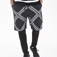 Bandana Print Shorts Black/Cream