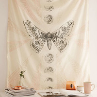 Moth Moon Tapestry - Urban Outfitters