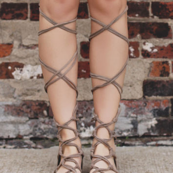 On Solid Ground Sandal - Taupe