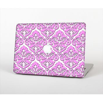 "The Pink & White Delicate Pattern Skin Set for the Apple MacBook Pro 13"" with Retina Display"