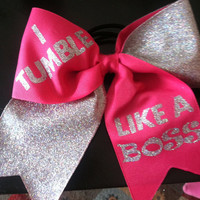 Big cheer bow by BowsB4Bros2013 on Etsy