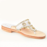 Classic Spring 2016 White / Gold - Palm Beach Sandals