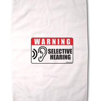 """Warning Selective Hearing Funny Premium Cotton Sport Towel 16""""x25 by TooLoud"""