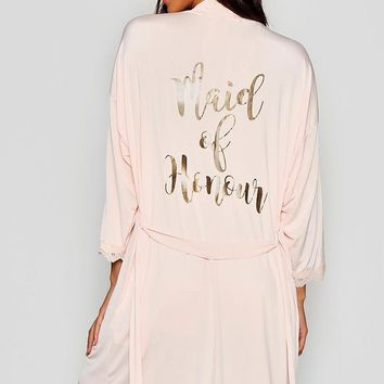 Maid of Honour Bridal Robe | Boohoo
