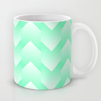 Minty Arrows Mug by Lyle Hatch | Society6