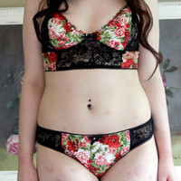 Layla Floral and Lace Bra