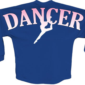 Dancer Pink pom print J america women Long sleeve shirt