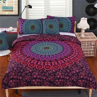Mandala Bedding Set Queen Soft Bedclothes 4pcs Bed Set
