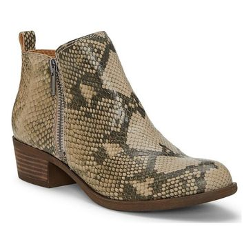 Lucky Brand Basel Chinchilla Slither Ankle Booties