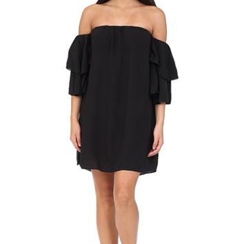 Black Off The Shoulder Dress at Blush Boutique Miami - ShopBlush.com : Blush Boutique Miami – ShopBlush.com