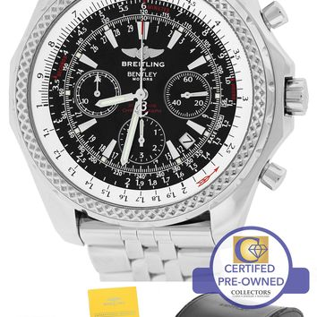 Breitling Bentley Chronograph Special Edition 48mm Black A25362 Stainless Watch