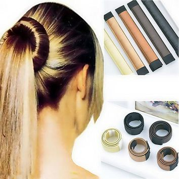 Women Hair Accessories New Hair Curls Bun Hair Band Hair Twist Styling Synthetic Wig Braid Tools Bun Maker