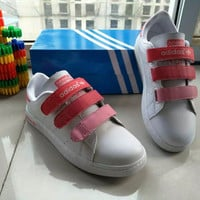 """Adidas STAN SMITH"" Fashion Casual Plate Shoes Sneakers Women Velcro Small White Shoes"