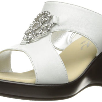 Onex Women's Justine Wedge Sandal White 9 B(M) US '