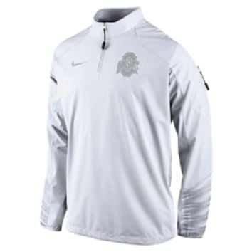 Nike Platinum Fly Rush 2.0 Half-Zip (Ohio State) Men's Training Top