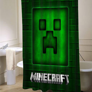 Best minecraft shower curtain products on wanelo for Bathroom designs minecraft