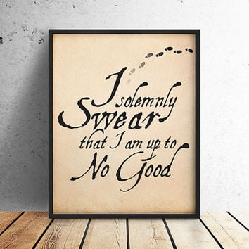 I Solemnly Swear I am up to No Good, Harry Potter, Harry Potter Poster, Marauders Map, Harry Potter PRINTABLE, 10x8 Digital Download