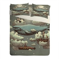 Terry Fan Ocean Meets Sky Sheet Set Lightweight