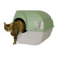 Omega Paw RA15 Self-Cleaning Litter Box, Regular, Green and Beige