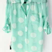 Mint Polka Dot Tunic