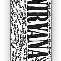 Nirvana all member and song titles for iPhone 4/4S Case **